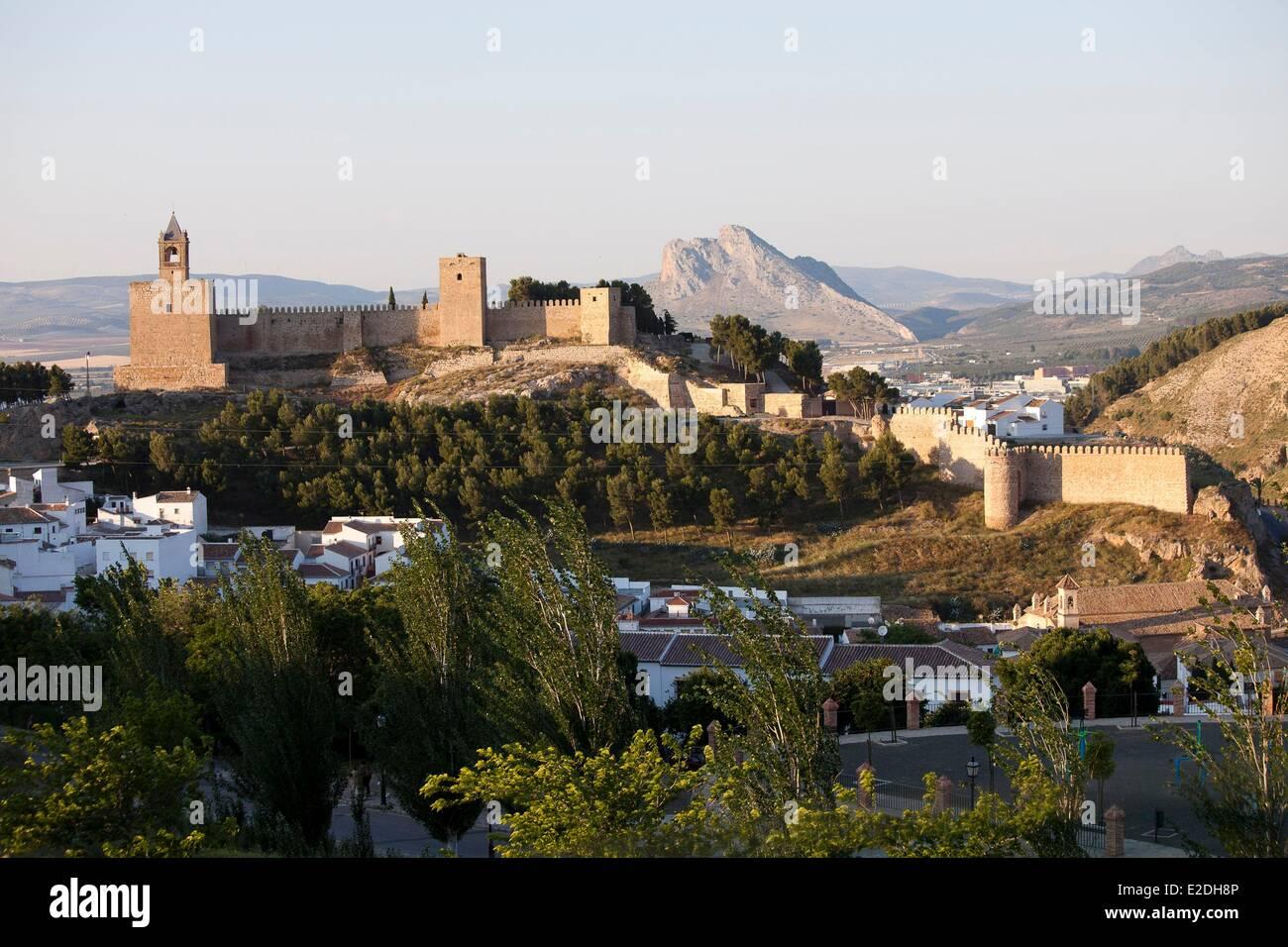 Spain, Andalusia, Antequera, white village, Alcazaba - Stock Image