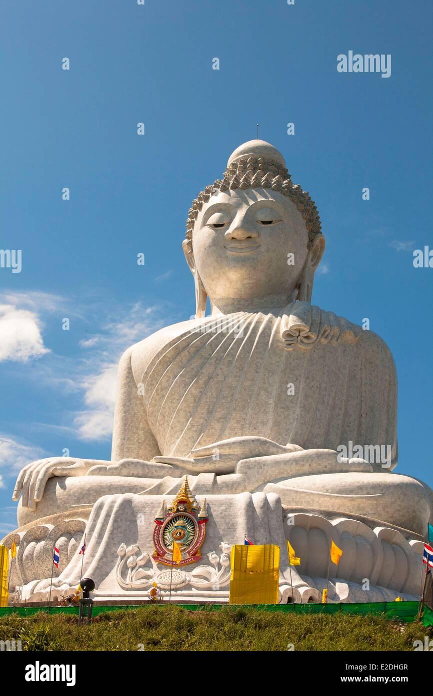 Thailand Phuket province Big Buddha (Mingmongkol Buddha) - Stock Image