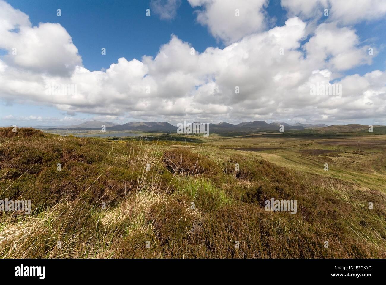 Ireland Galway County Connemara Twelve Bens - Stock Image