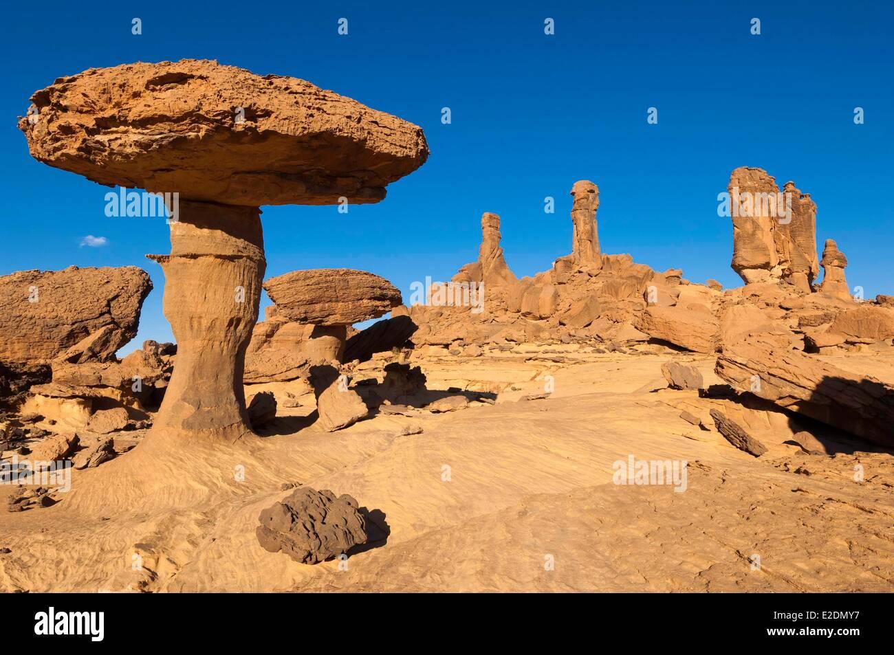 Chad Southern Sahara desert Ennedi massif Deli mushrooms - Stock Image