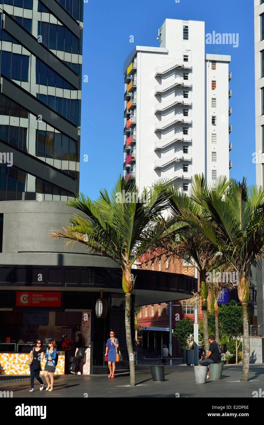 New Zealand North island Auckland Central Business District (ou CBD) Queen street - Stock Image