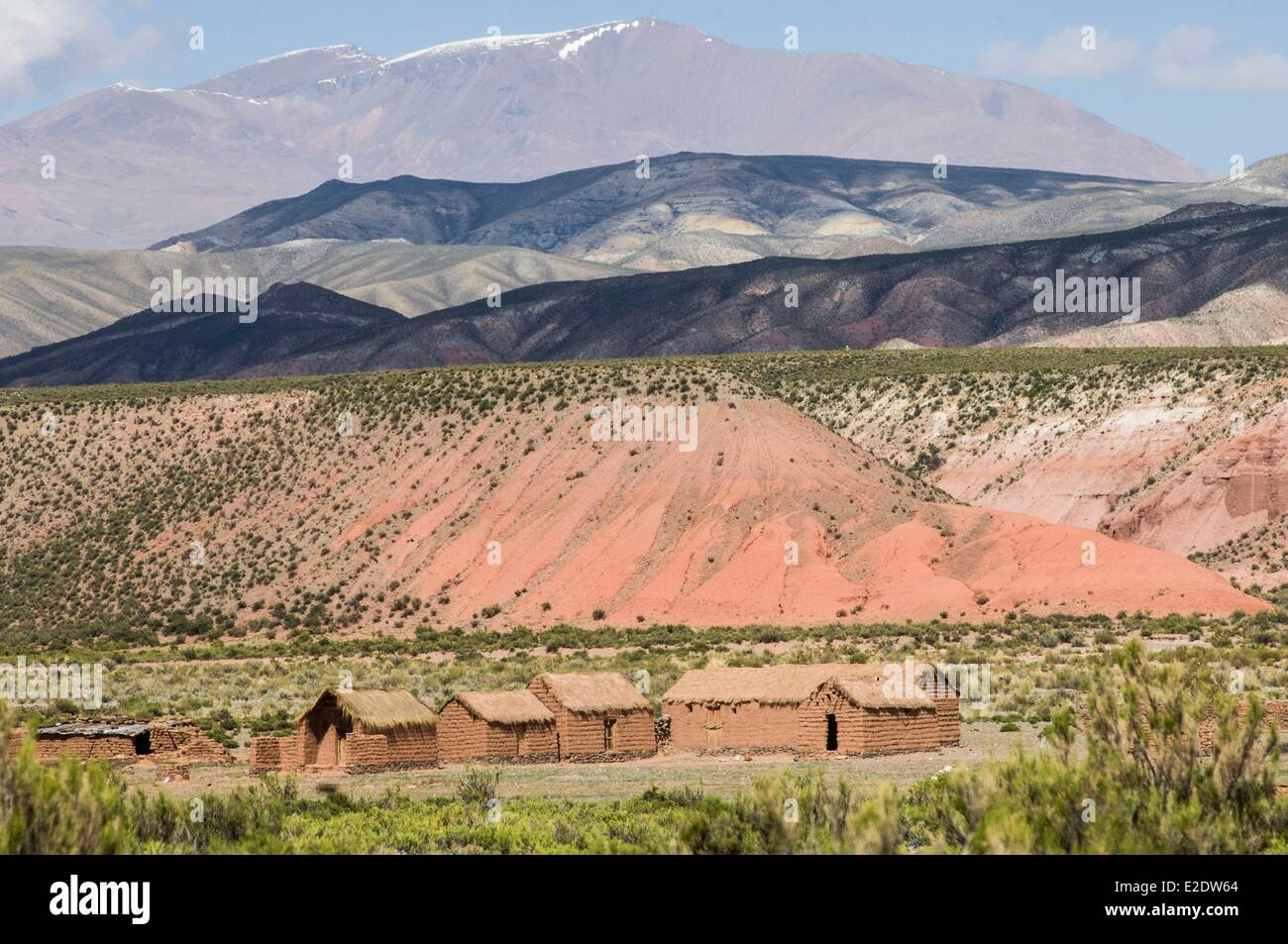 Argentina Noroeste Jujuy province Cusi Cusi indian village in adobe - Stock Image