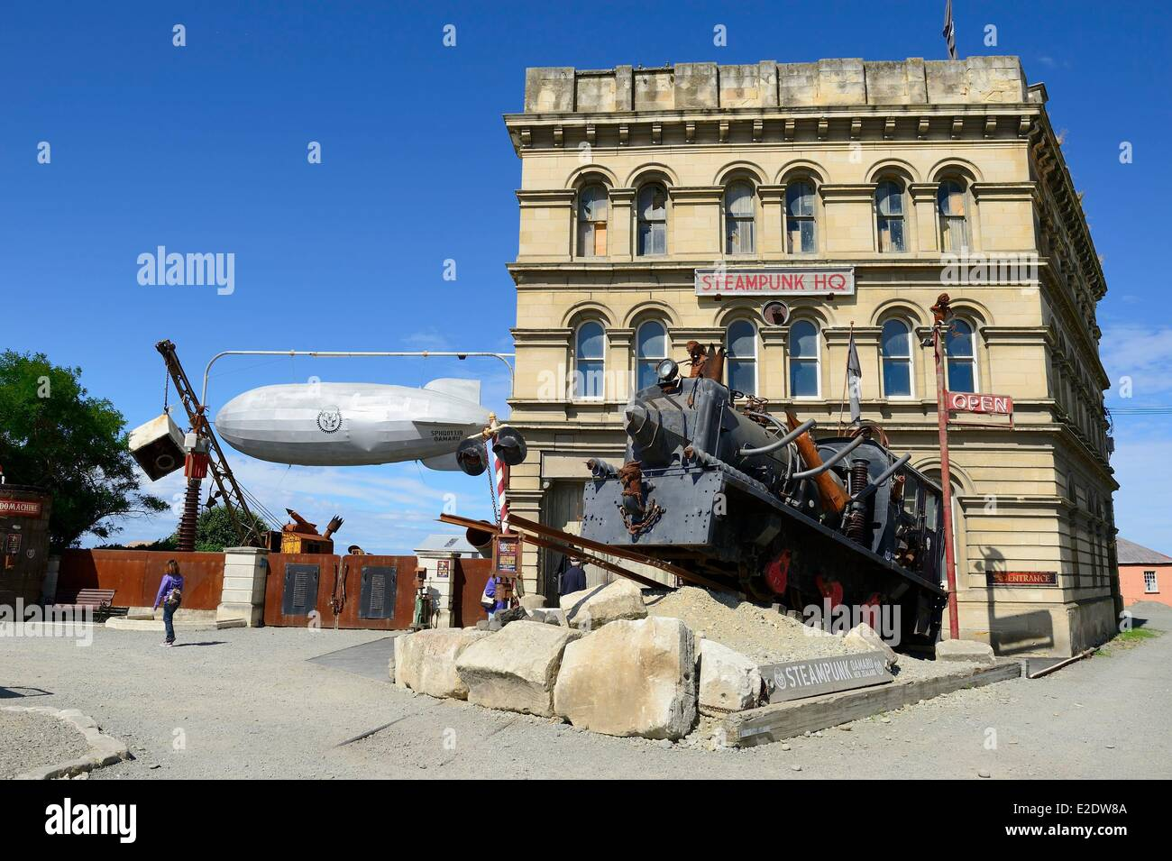 New Zealand, South island, Otago region, Oamaru is an urban center on the seafront with well-preserved old victorian - Stock Image