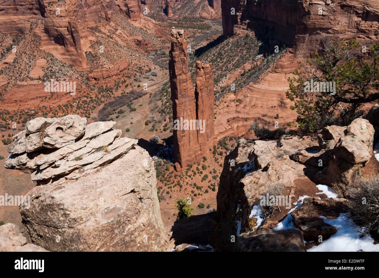 United States Arizona Canyon de Chelly National Monument - Stock Image