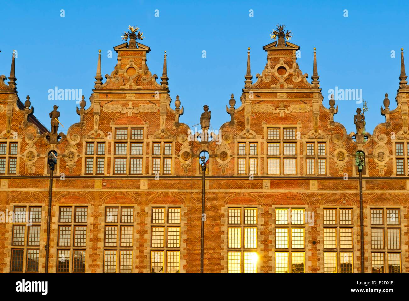 Poland Eastern Pomerania Gdansk Great Arsenal elegant building built in a Flemish Renaissance style between 1600 - Stock Image