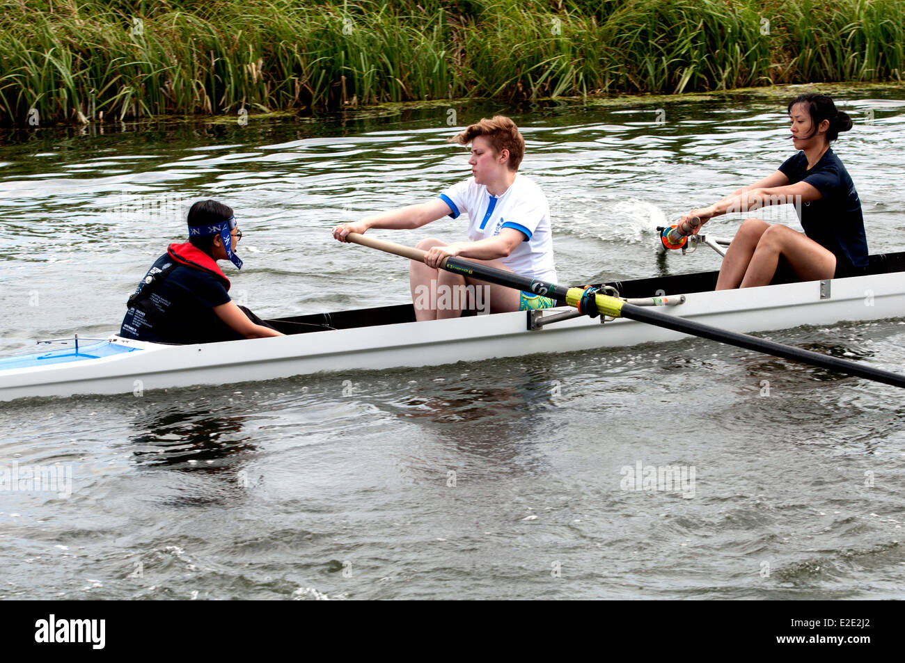 Cambridge May Bumps, a Peterhouse College ladies eight - Stock Image
