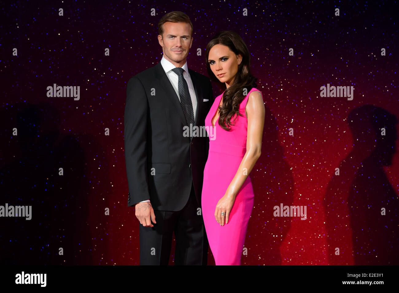 9d6fa2d6933 The new wax figures of David Beckham and Victoria Beckham are unveiled at  Madame Tussauds