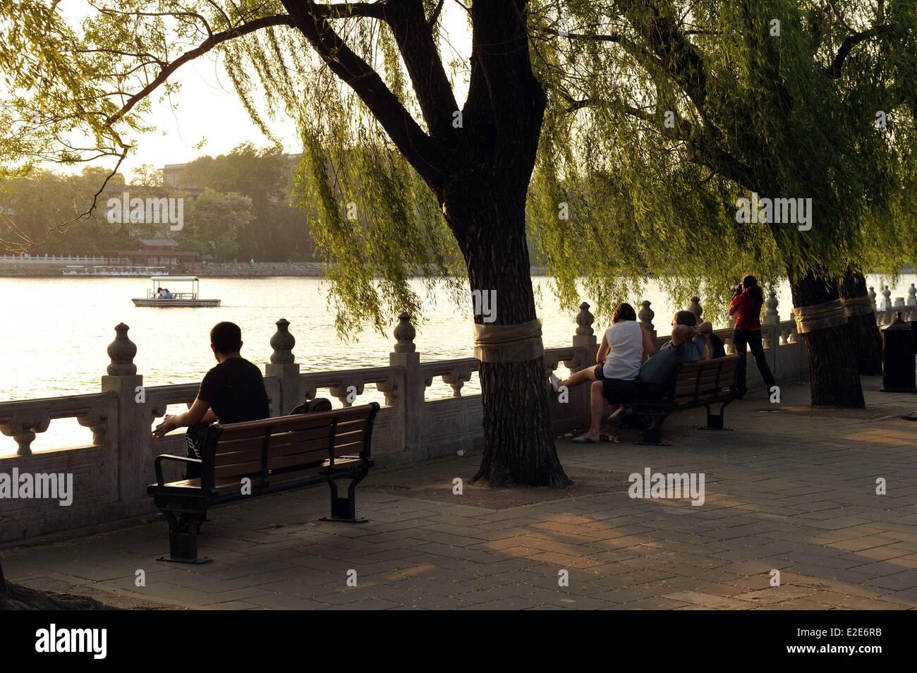China, Beijing, Inner City, Qiong hua Island in the Beihai parc - Stock Image