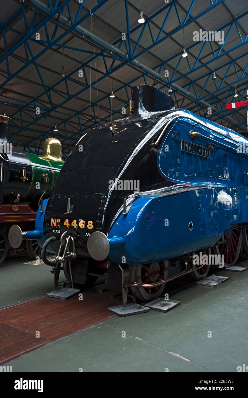 a4 pacific class mallard at the national railway museum york north yorkshire england uk united kingdom