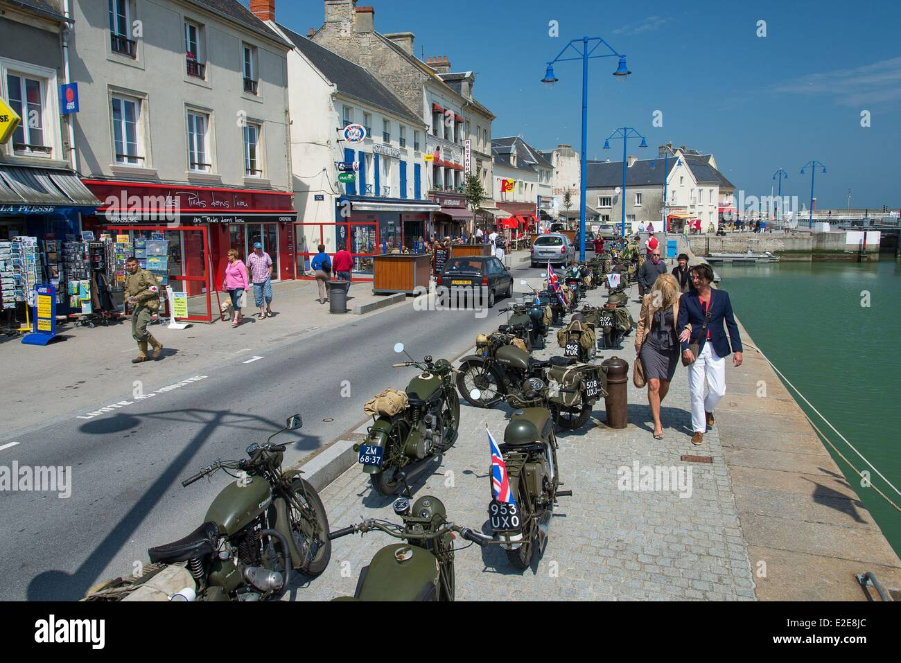France calvados port en bessin commemoration of the june 6 1944 stock photo 70384900 alamy - Poissonnerie port en bessin ...