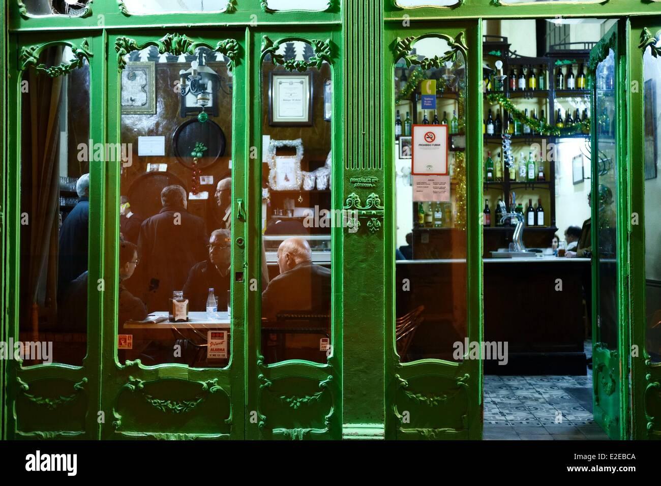 Spain, Andalusia, Cordoba, the Bodegas El Gallo Stock Photo