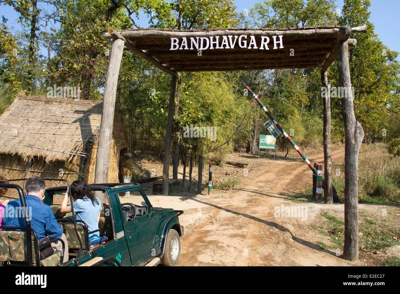 India, Madhya Pradesh state, Bandhavgarh National Park, entrance of the park - Stock Image