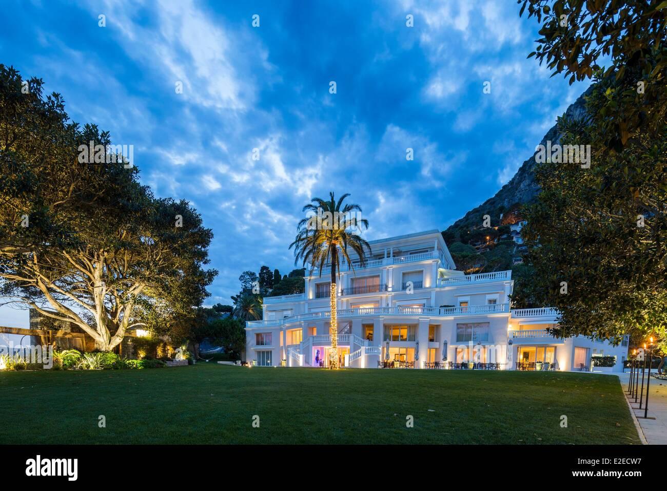 France, Alpes Maritimes, Eze Bord de Mer, 5 star Hotel The Cap Estel - Stock Image