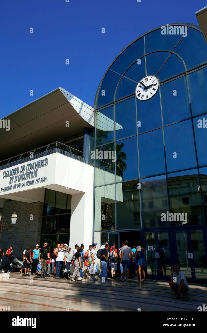 France, Corse du Sud, Ajaccio, Chamber of Commerce and Industry, Maritime Station - Stock Image