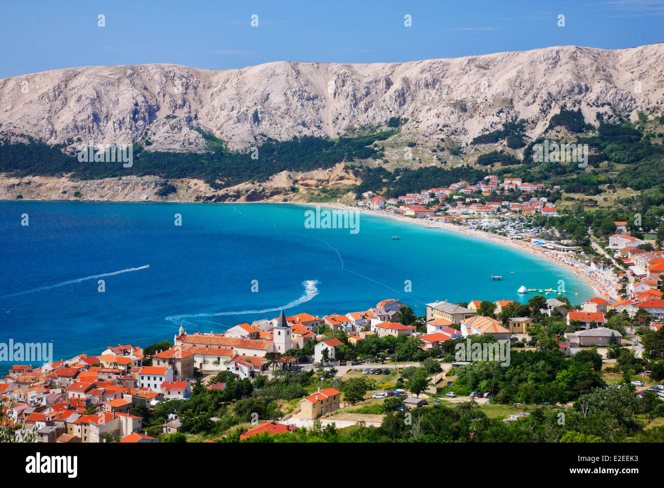 Baska town, island Krk - Stock Image