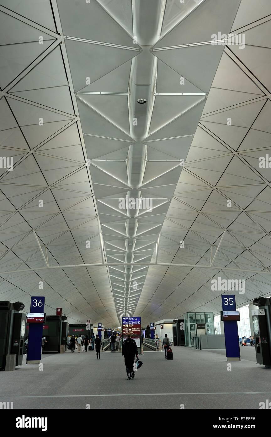 China, Hong Kong, CHong Kong Chek Lap Kok International Airport - Stock Image