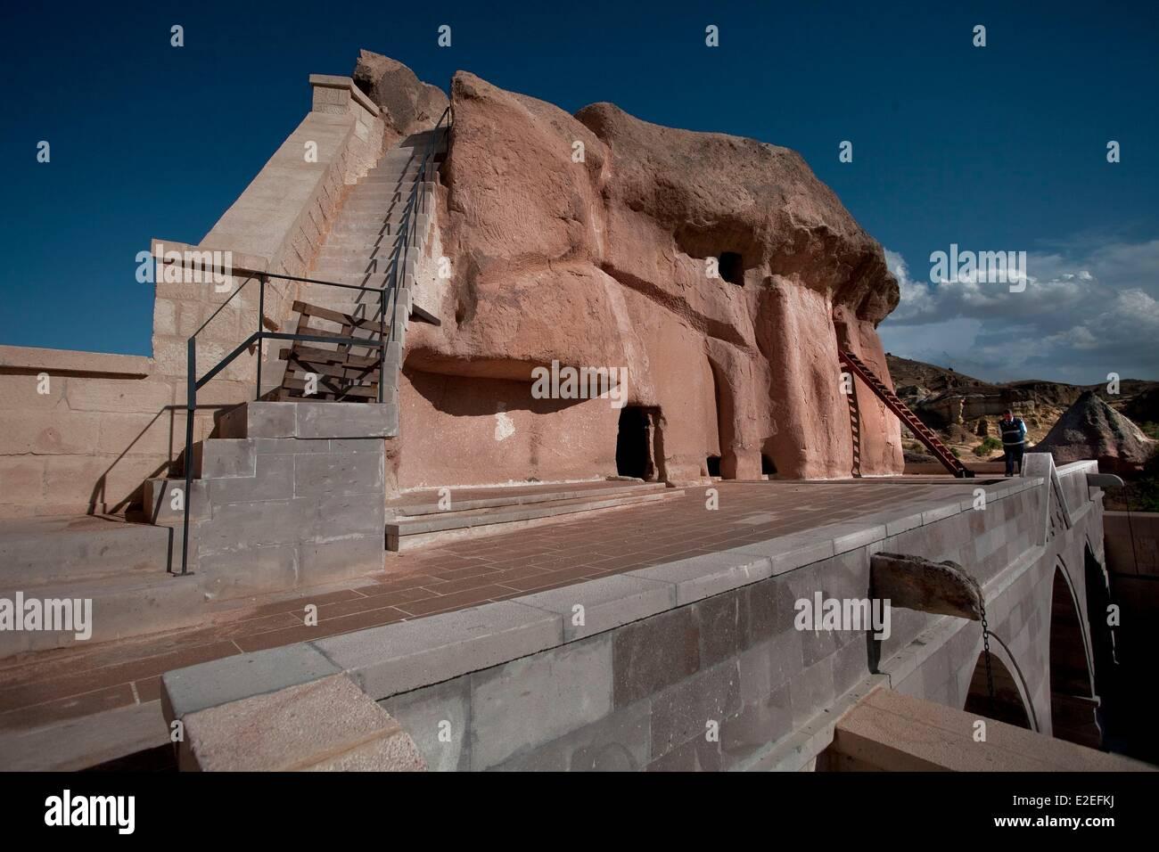 Turkey, Central Anatolia, Capadoccia, Mustafapasa, Saint Nikolaos, listed as World Heritage by the UNESCO - Stock Image