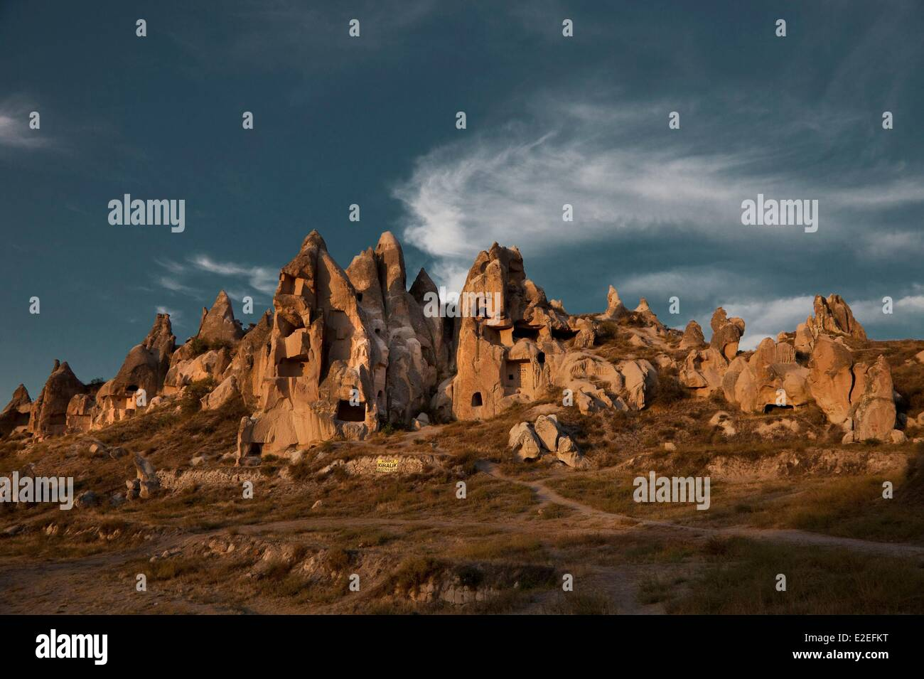 Turkey, Central Anatolia, Capadoccia, Goreme, listed as World Heritage by the UNESCO - Stock Image