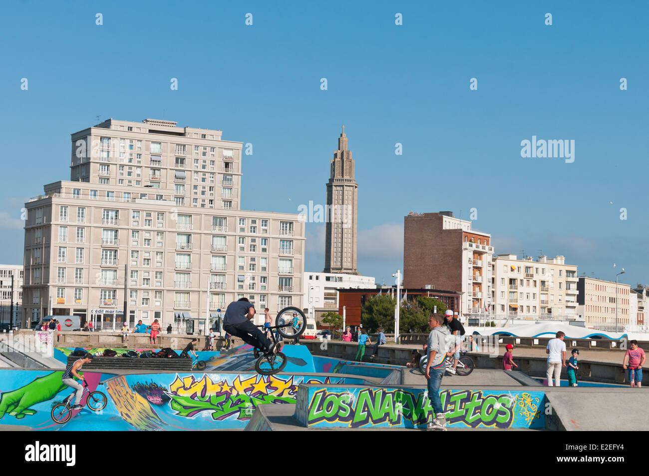 Le Havre city, Haute Normandie, France, Europe - Stock Image