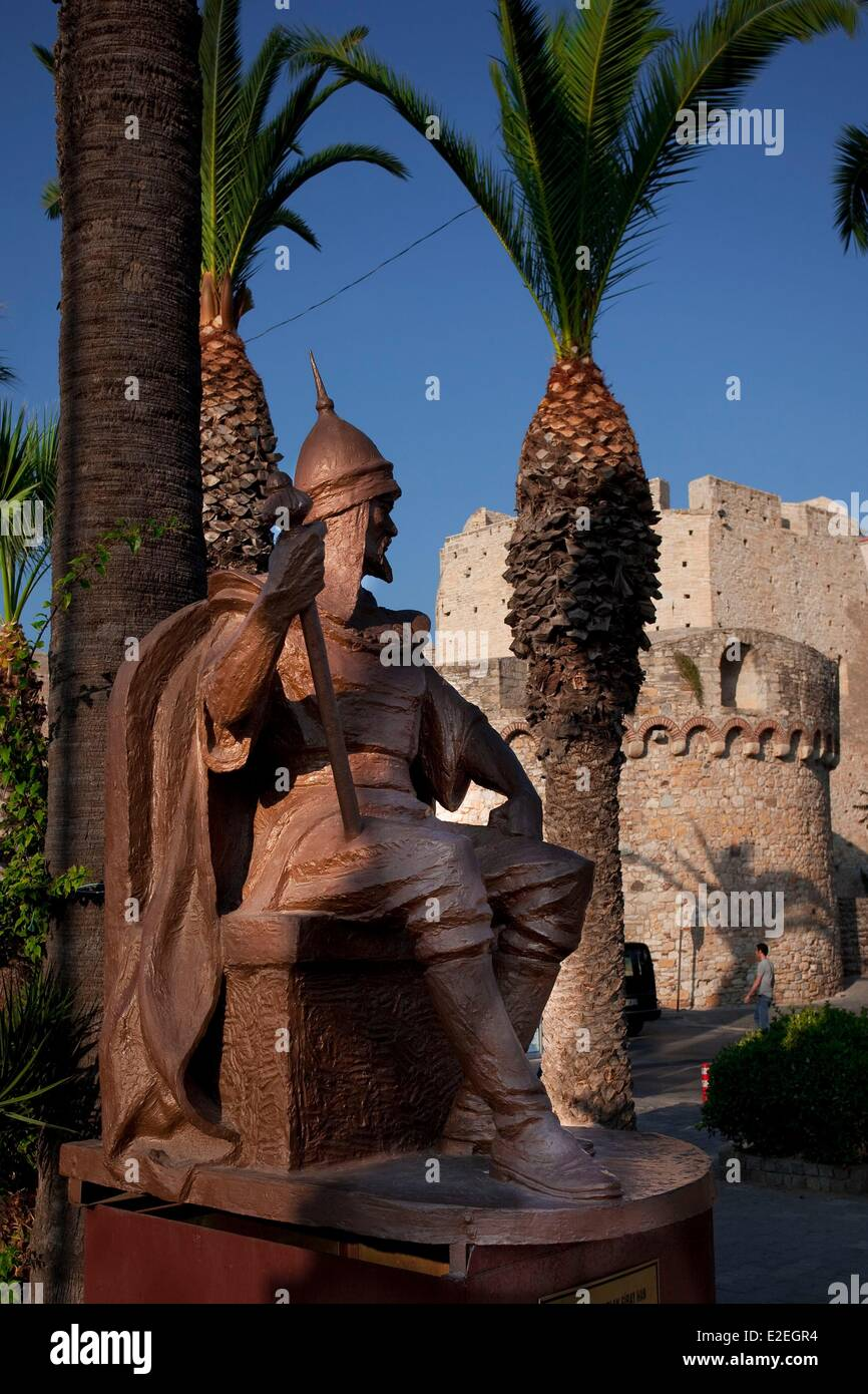 Turkey, Aegean region, Cesme, Kaplan Giray, Khan of Crimea, Khan and Sultan, born in Rhodes island - Stock Image