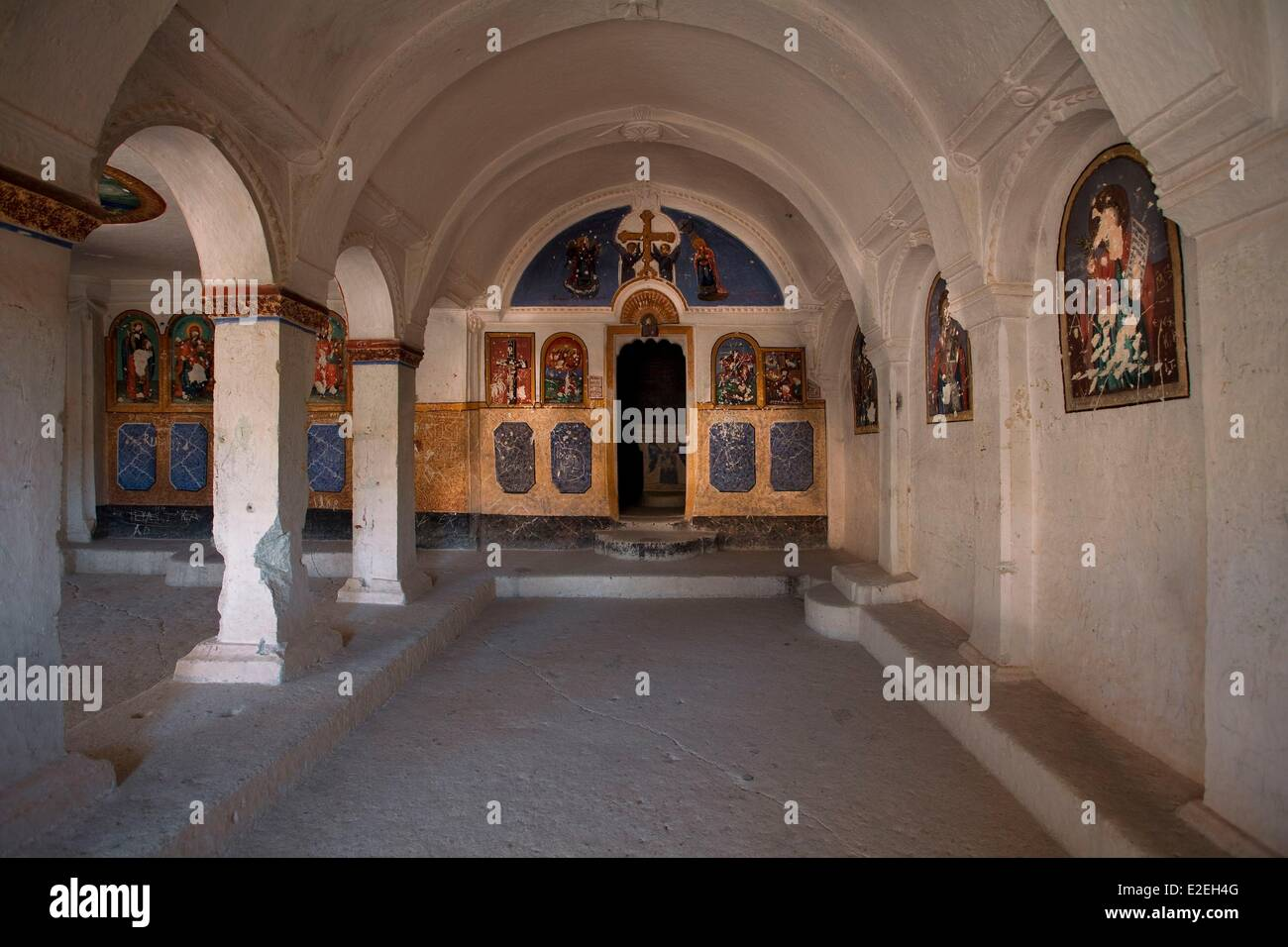 Turkey, Central Anatolia, Capadoccia, Mustafapasa, Saint Vasilyos, listed as World Heritage by the UNESCO - Stock Image