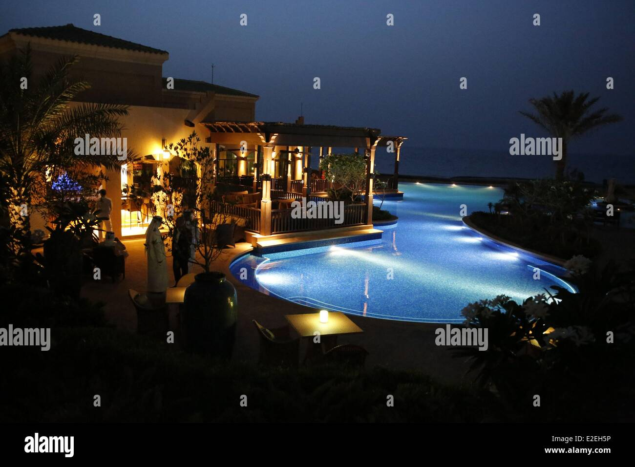 United Arab Emirates, Abu Dhabi, Sir Bani Yas island, the luxury Desert island resort by Anantara - Stock Image