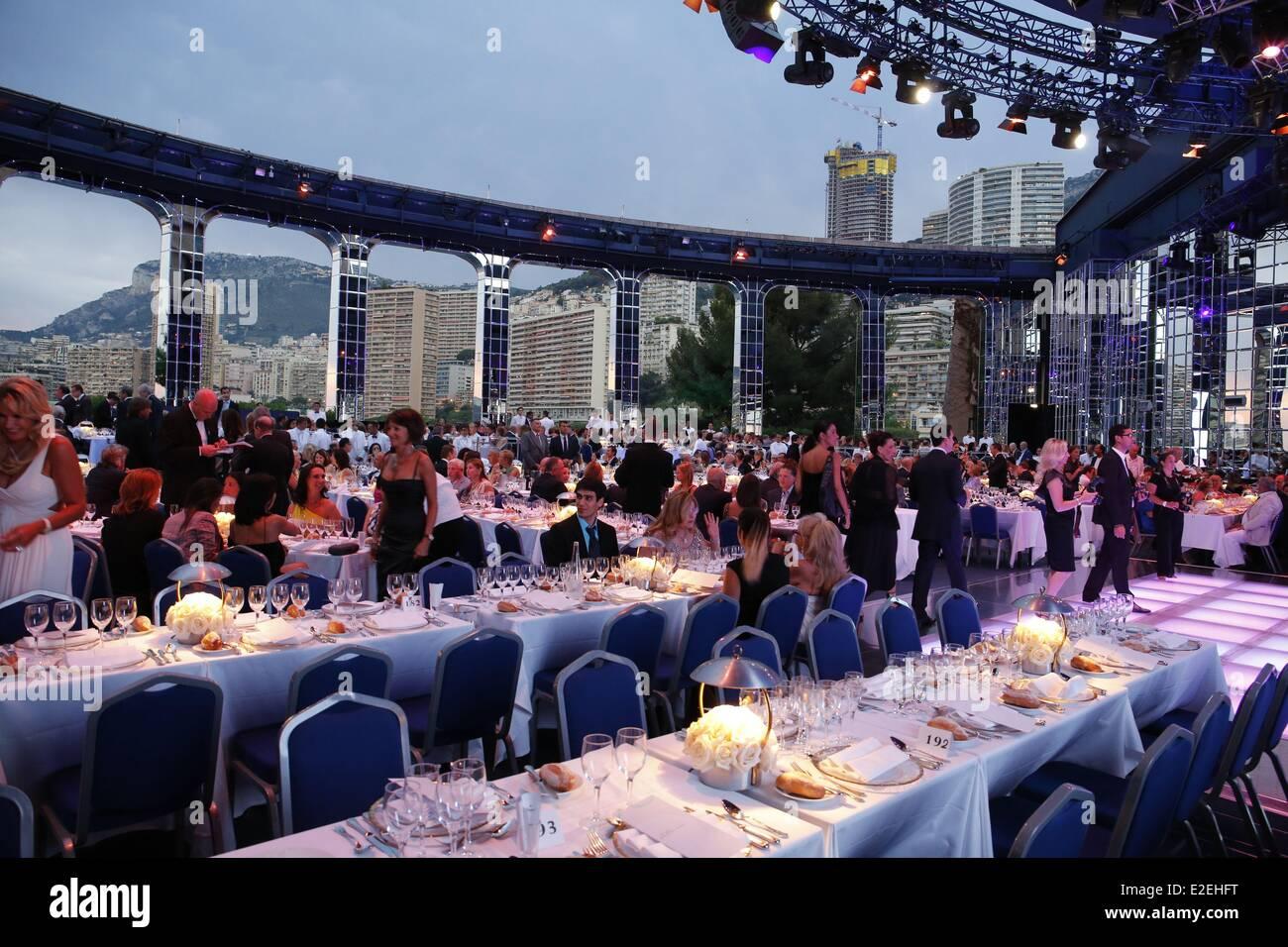 Europe Principality of Monaco Rod Steward recital and Diner at Winter Sporting Venue property of SBM (Societe des - Stock Image