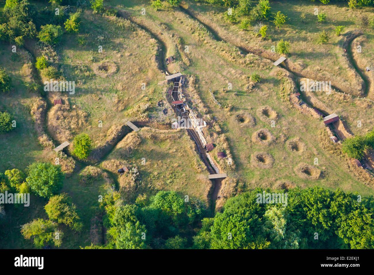 5a61bd5e53b8e5 France, Pas de Calais, Ablain Saint Nazaire, old trenches on Colinne ...