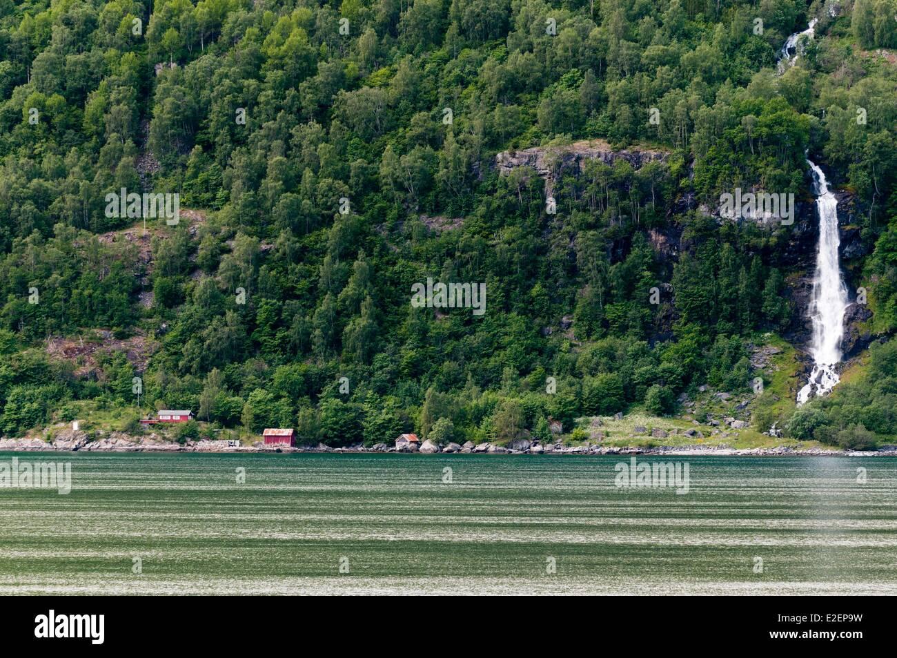 Norway, More og Romsdal County, Geiranger - Stock Image