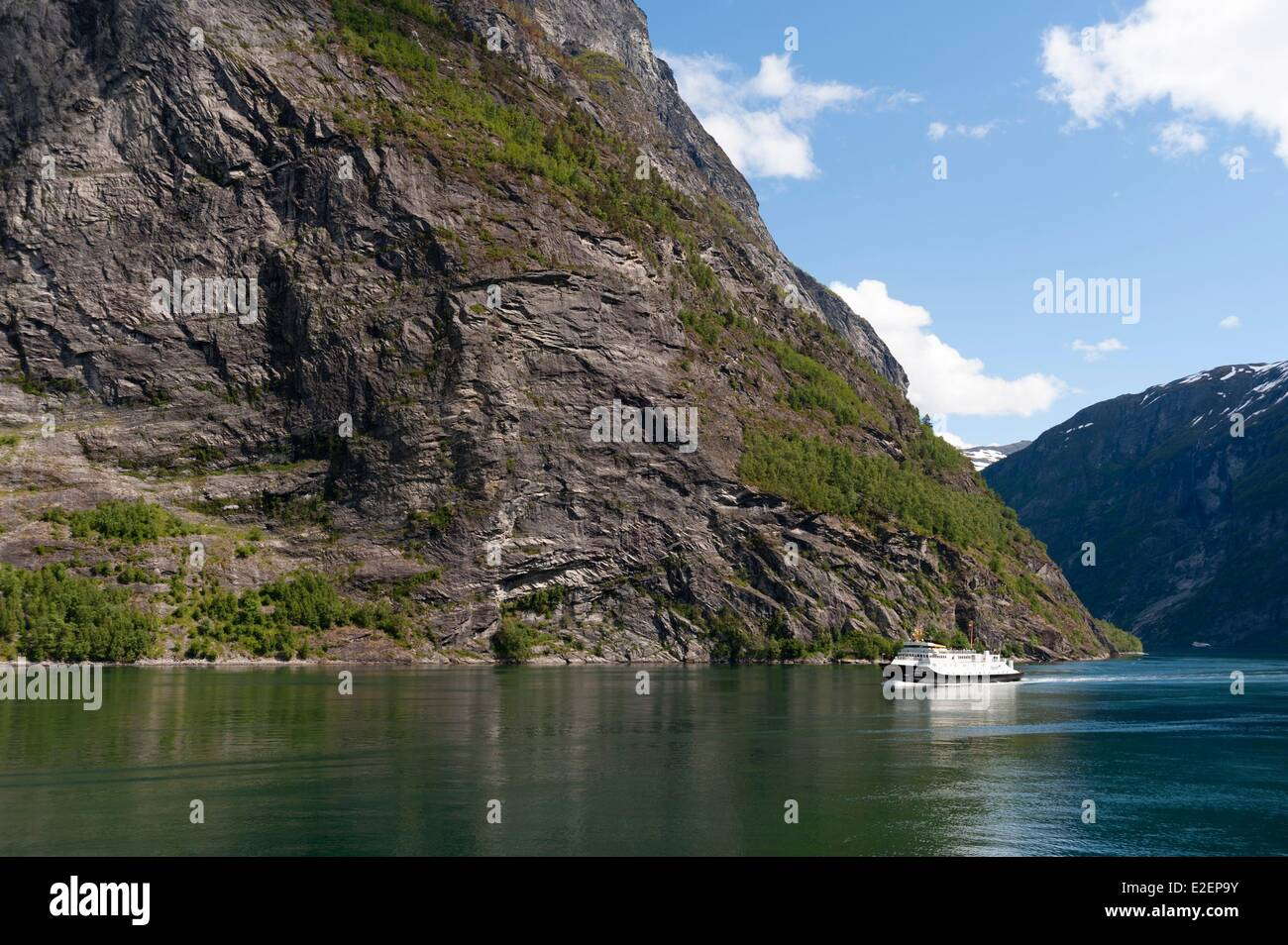 Norway, More og Romsdal County, cruise ship in Geirangerfjord - Stock Image