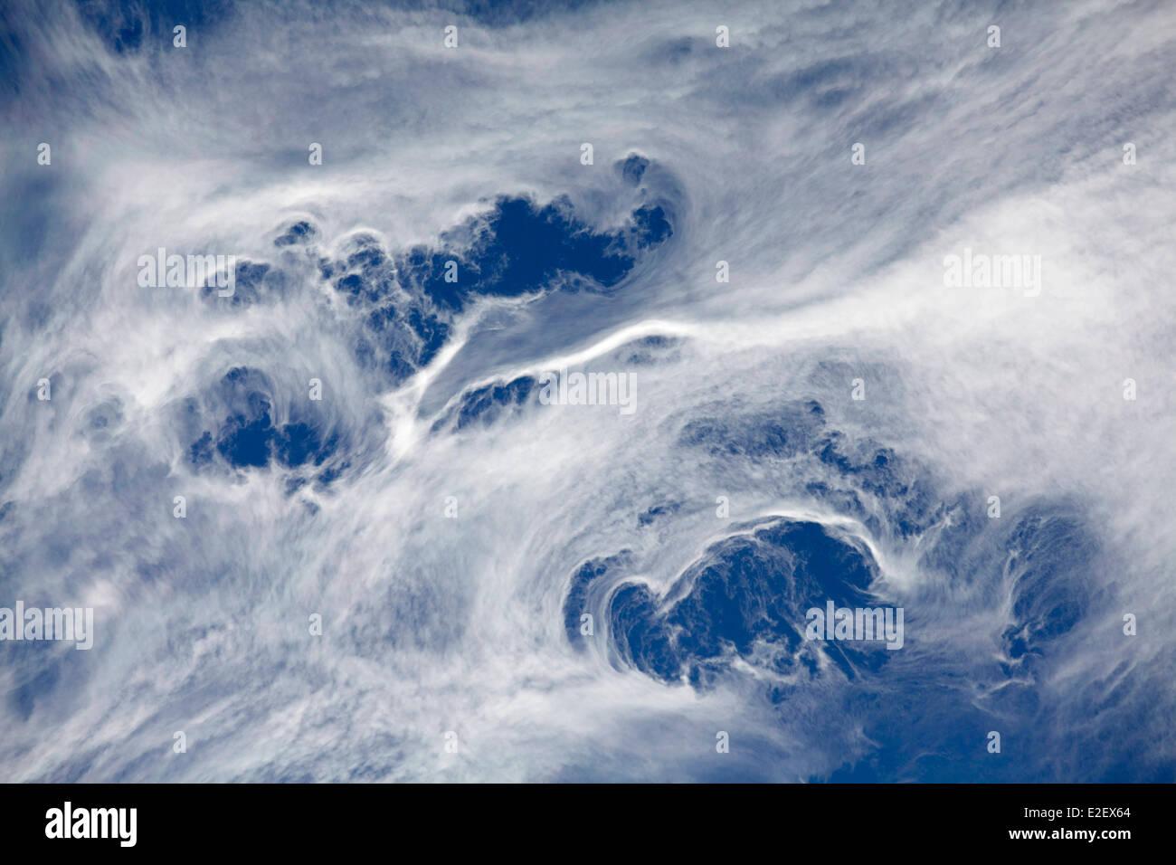 France, Haute Savoie, Chamonix, clouds movements, Chamonix valley - Stock Image