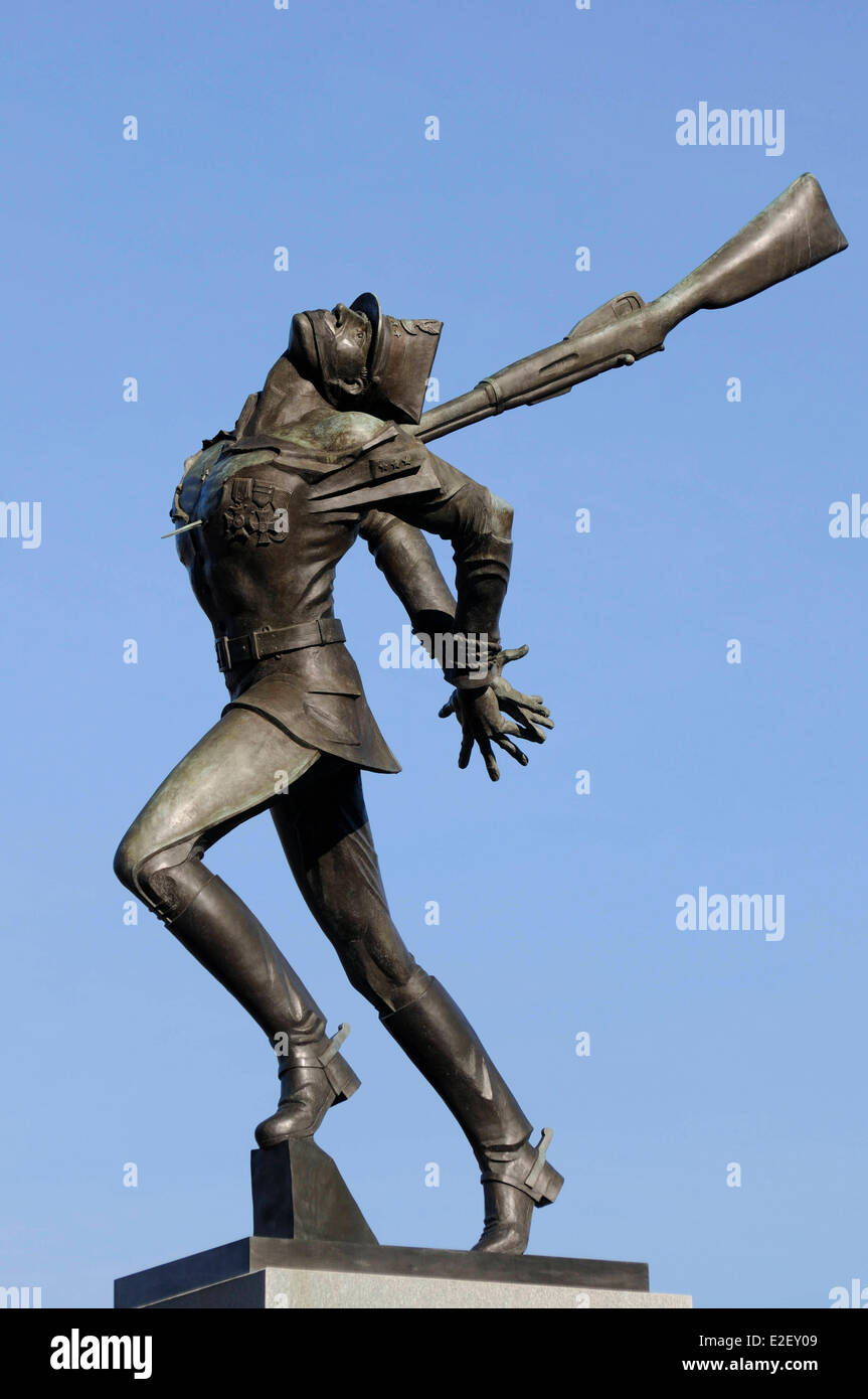 United States New Jersey Jersey City Exchange Place Katyn Memorial dedicated to the victims of the Katyn massacre in 1940 Stock Photo