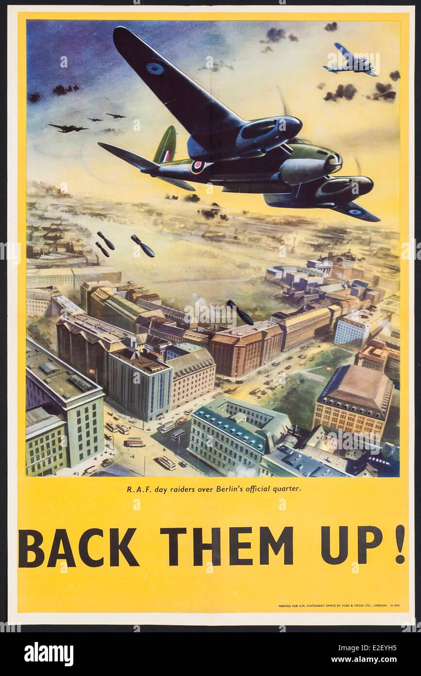 British Second World War propaganda poster - Stock Image