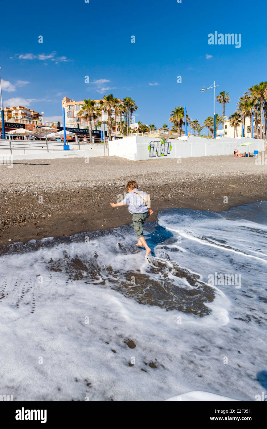 Playa Ferrara, Torrox, Costa del Sol, Malaga province, Andalusia, Spain, Europe. Stock Photo