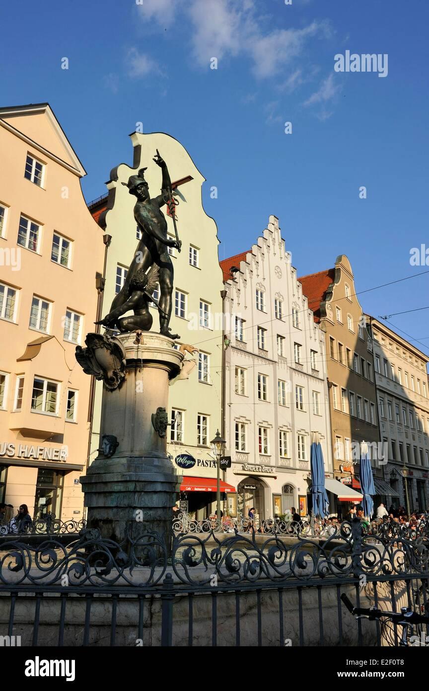 Germany, Bavaria, Augsburg, Maximilianstrasse - Stock Image