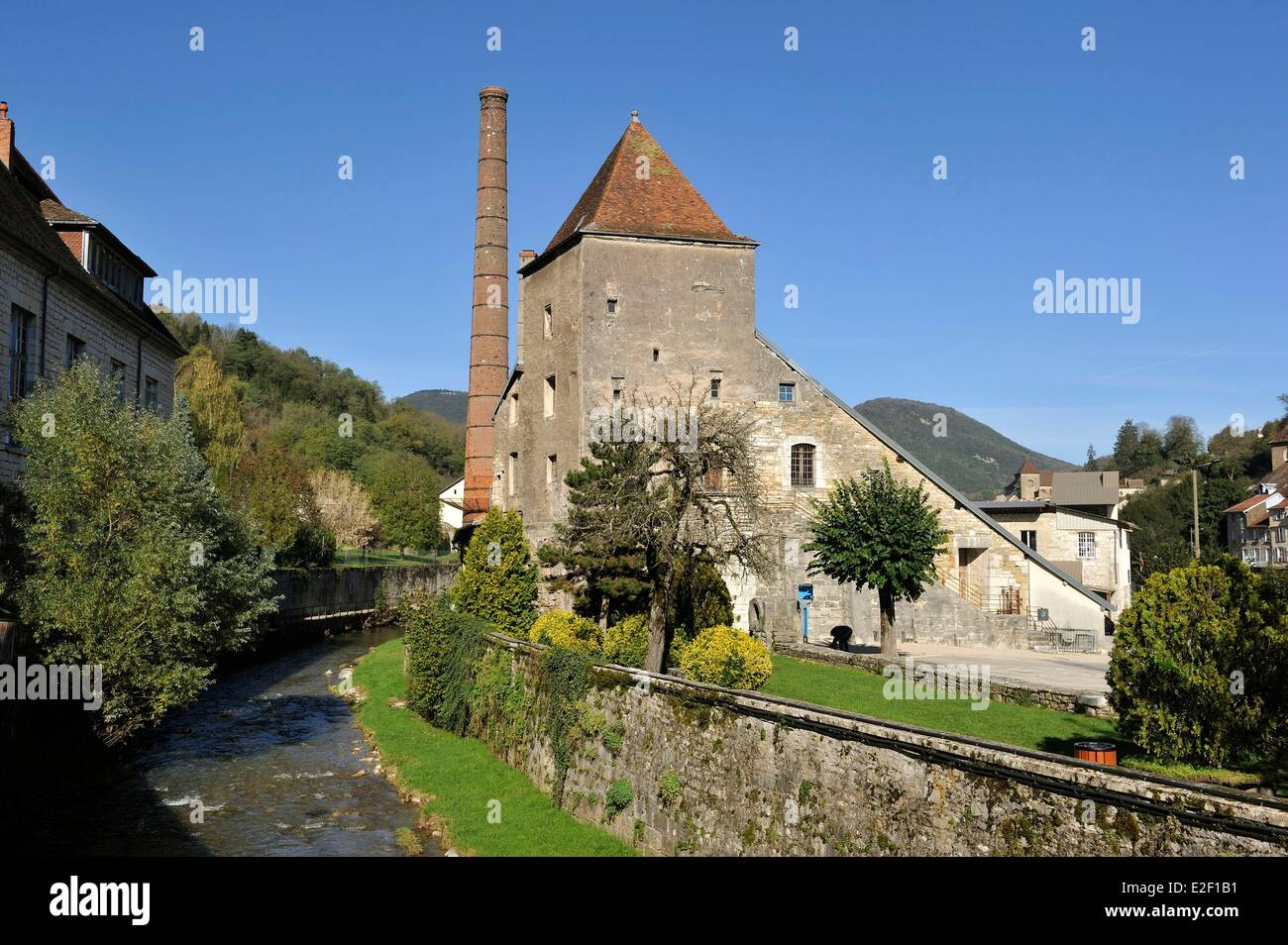 France Jura Saltworks Of Salins Les Bains Listed As World Heritage Stock Photo Alamy