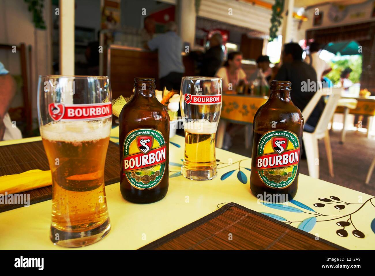 France, Reunion island (French overseas department), Cilaos, Dodo beer, produced and marketed by Bourbon breweries - Stock Image