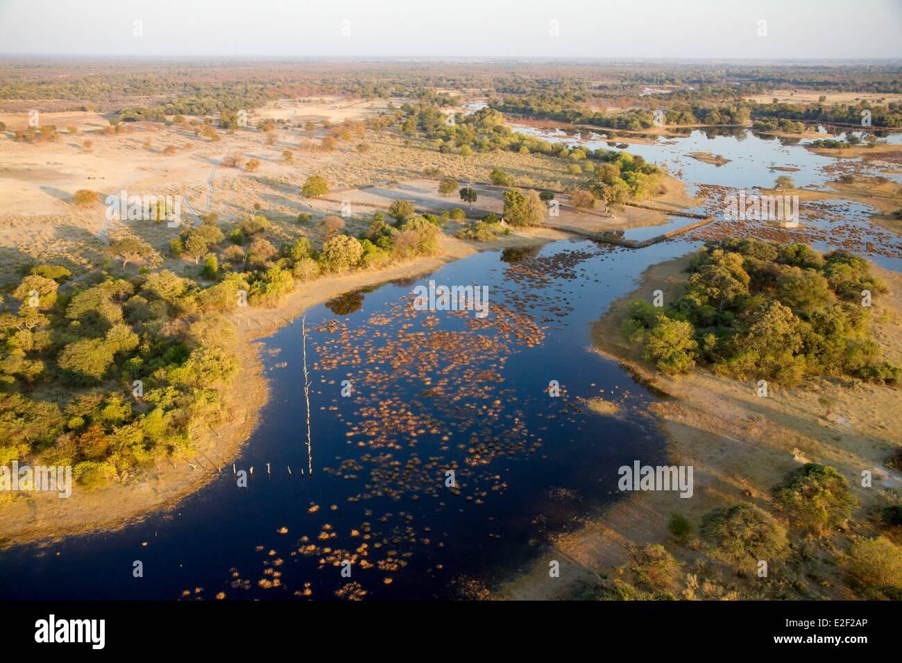 Botswana, Okavango delta (aerial view) - Stock Image
