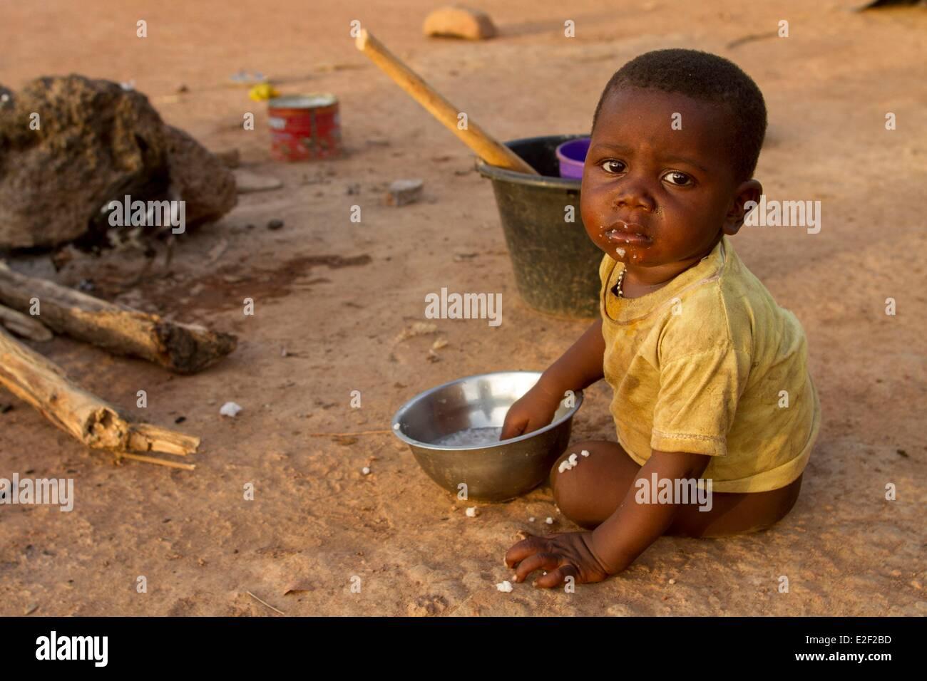 Burkina Faso, village in Senoufo area - Stock Image