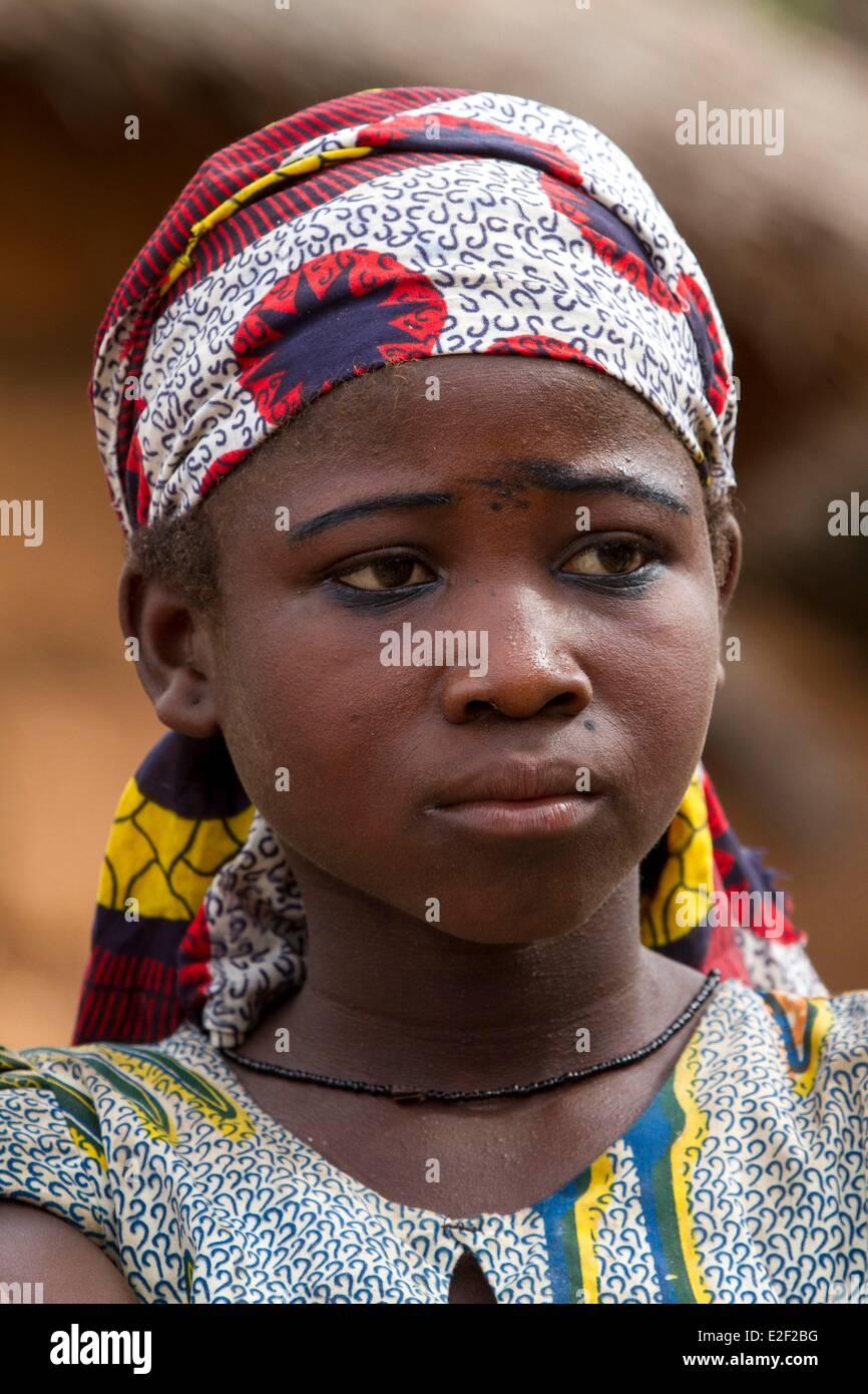 Burkina Faso, Senoufo area, village of Negueni, young woman - Stock Image