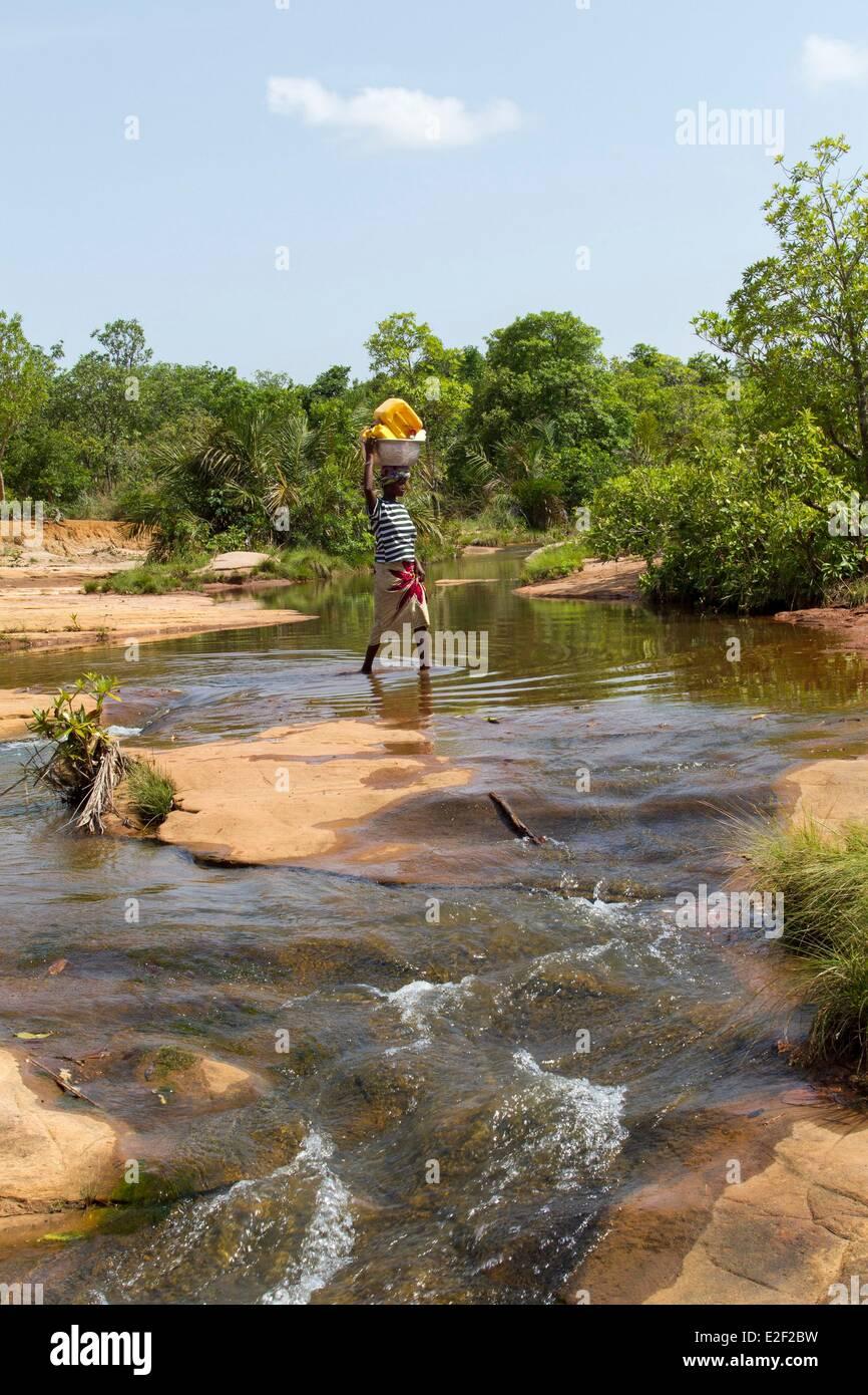 Burkina Faso, Senoufo area, Tengrela lake - Stock Image