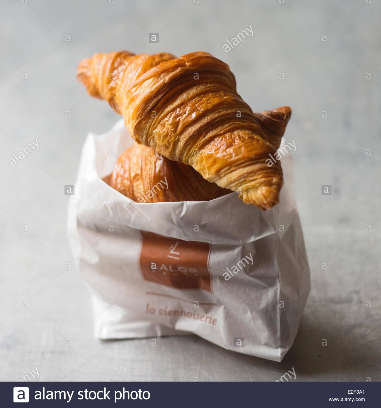 France, Paris, French Butter Croissants - Stock Image