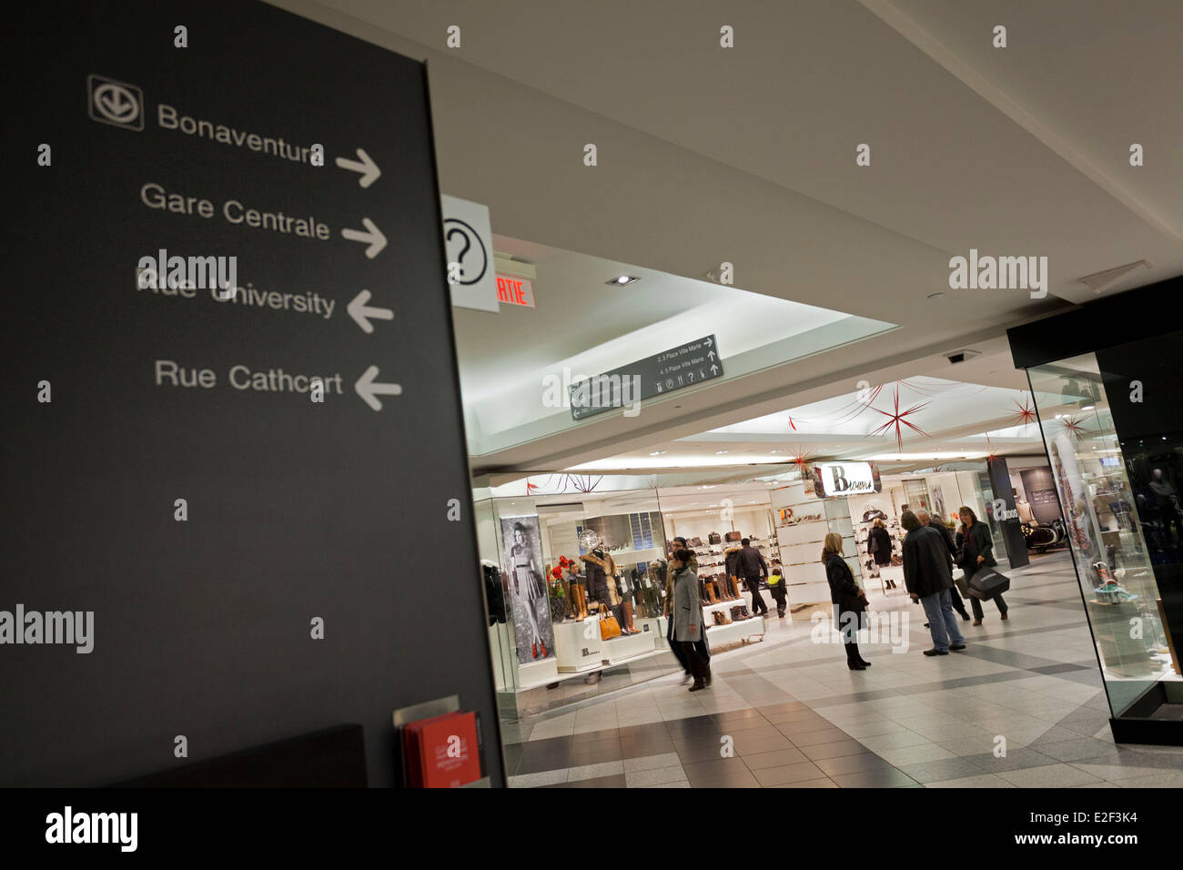 Canada, Quebec province, Montreal, the Underground City, the mall in the Place Ville-Marie Stock Photo