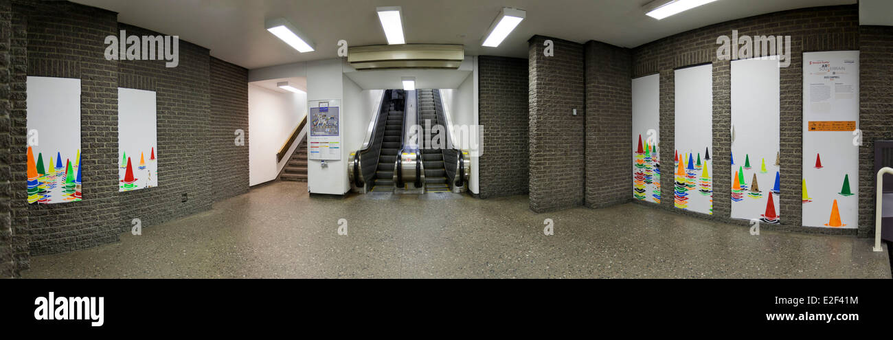 Canada, Quebec province, Montreal, the Underground City, the underground passage leading to the Halles de la Gare - Stock Image