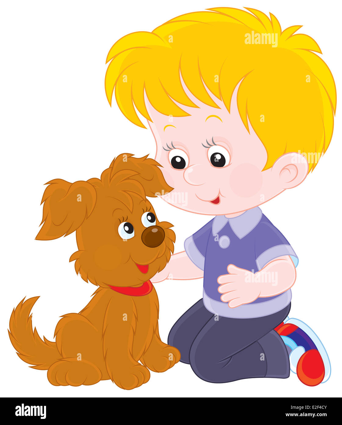 Boy and pup - Stock Image