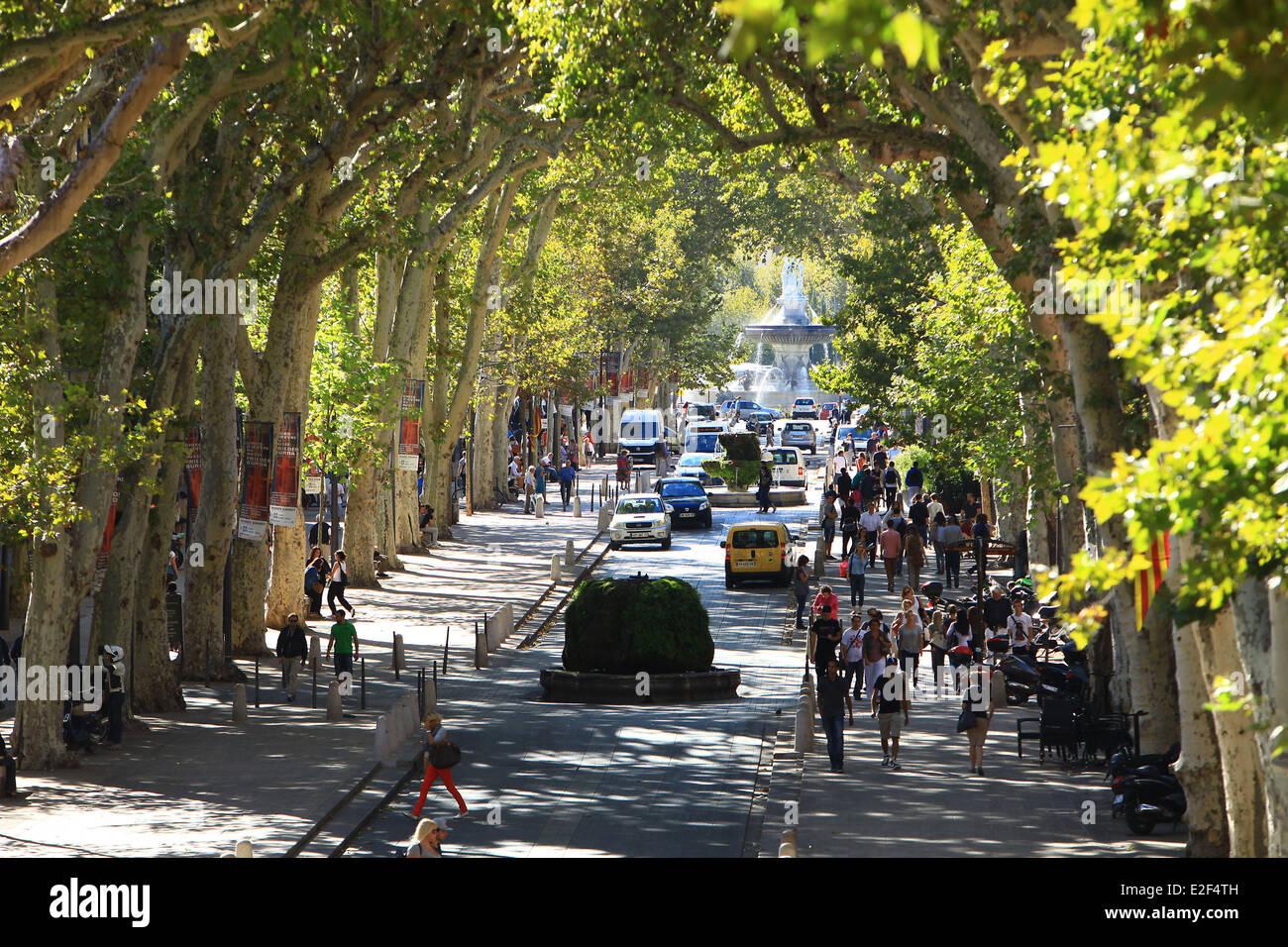 Cours Mirabeau, Aix-En-Provence, Bouches Du Rhone