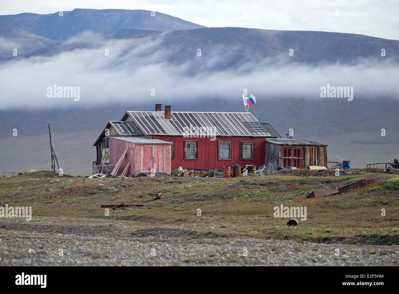 Russia, Chukotka autonomous district, Wrangel island, Doubtful village Stock Photo
