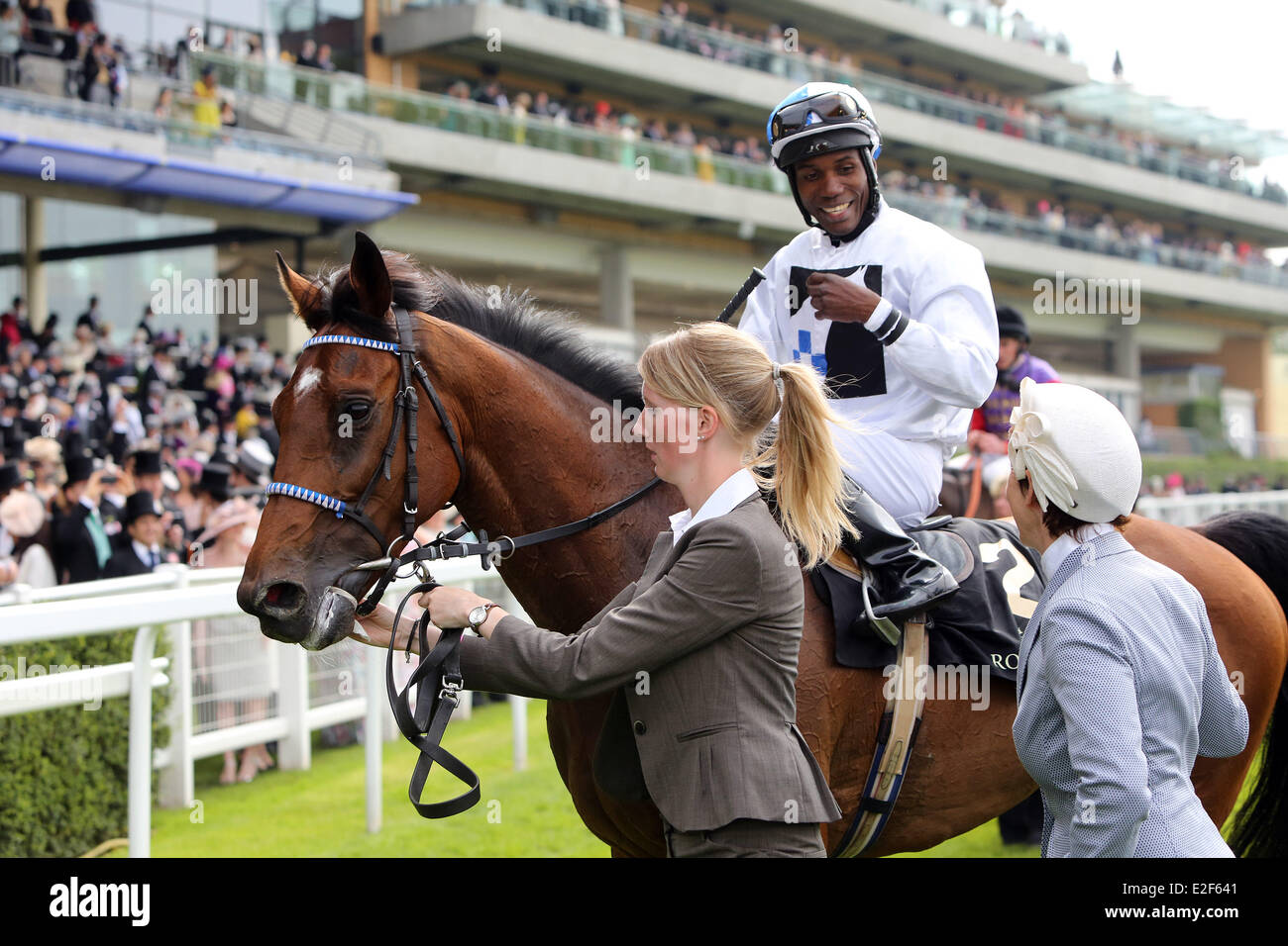 Ascot, Berkshire, UK. 19th June, 2014.  Altano with Eduardo Pedroza up. Ascot racecourse. (Pferd, Jockey, Altano, Stock Photo