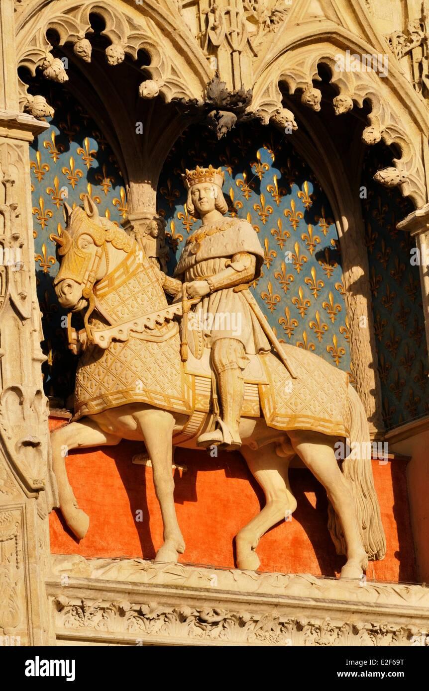 France Loir et Cher Loire Valley listed as World Heritage by UNESCO Blois Chateau de Blois Louis XII Wing Renaissance - Stock Image