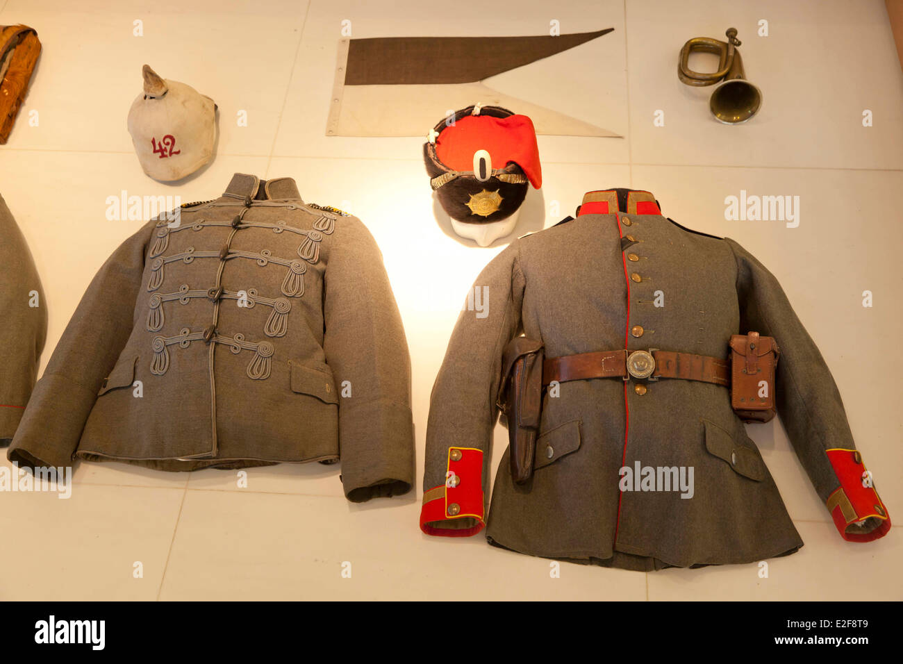 France, Somme, Peronne, Museum of the Great War museum World War, German soldier held - Stock Image